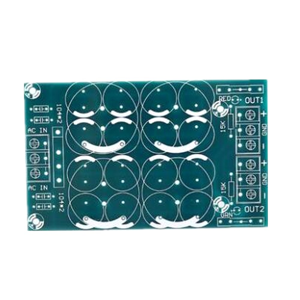 Conjuntos de saída paralela 2 filtro retificação dupla fonte de alimentação com fusível tubo de alimentação placa de potência do amplificador placa PCB em branco