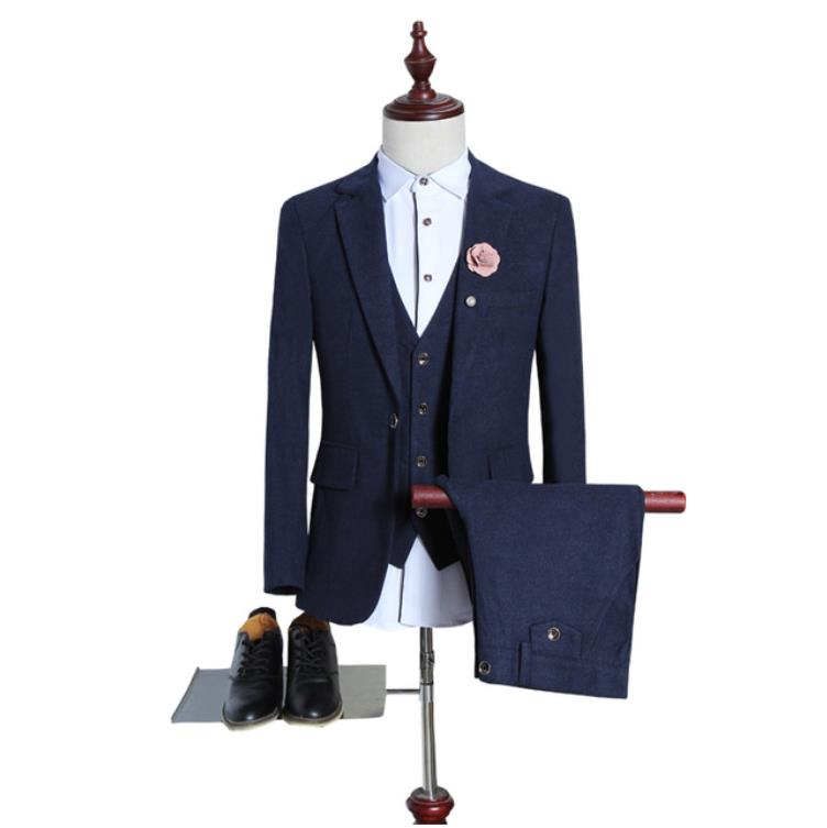 بدلة رجالية من الصوف ، بدلة غير رسمية ، زر واحد ، بليزر ، أعمال ، جودة عالية ، 2019