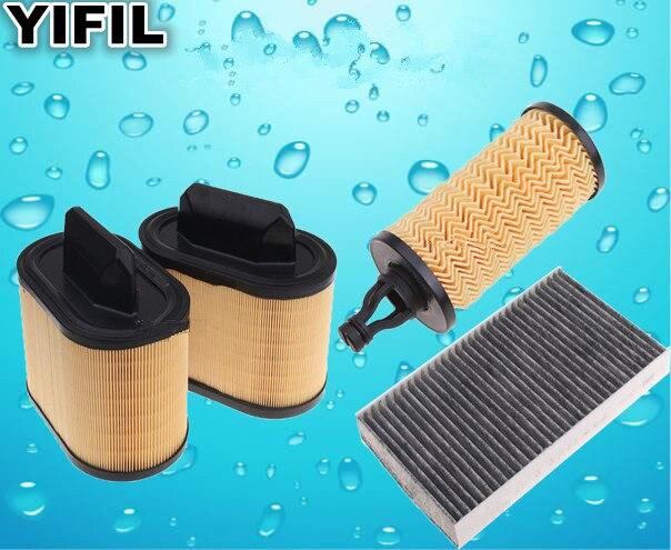 3 filtros de filtro de aire para cabina de gasolina Maserati GT Ghibli Quattroporte V6/V8 3,0/3,8 Levante 2014 y más