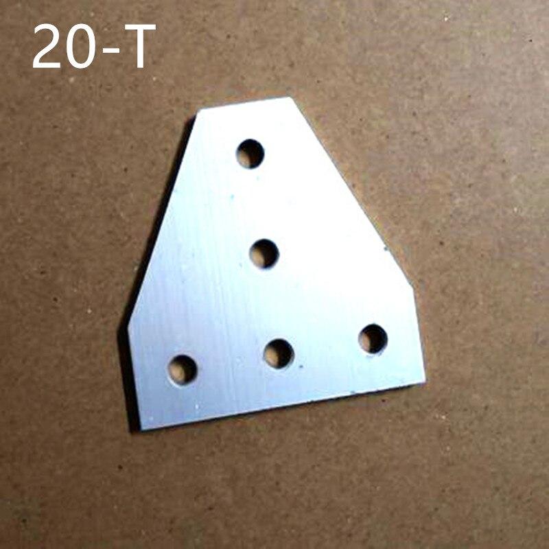 2 STÜCKE 5 Loch 90 Grad T Gelenk Bord Platte ecke Winkel Kupferverbindungsgelenk Streifen für Aluminium Profil 2020 20x20
