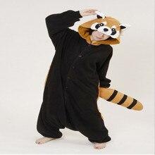 Neue Tier Onesie Waschbären Pyjamas Cosplay Halloween Kostüm Für Frau Lustige Kleidung Tier Overall Sleepcoat Sleepwear Auf Lager