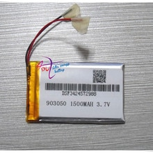 3.7V lithium polymer battery 903050 MP4 electronic products Bluetooth stereo 1500MAH