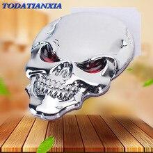 3D Metal Skull Car Sticker Logo Emblem Badge for bmw z3 vw golf 5 alfa romeo 159 bmw r1200gs opel vectra c mercedes w205