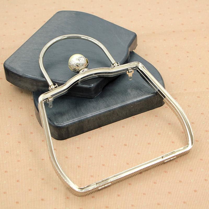 18 см серебряная металлическая рамка для кошелька с ручкой жемчужная большая шариковая застежка с пластиковой коробкой металлическая короб...