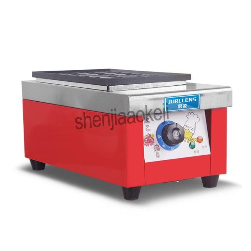 Máquina de bolas pequeñas de pulpo de acero inoxidable, horno comercial eléctrico de bola de pescado, máquina de hornear de huevo de pescado antiadherente de teflón