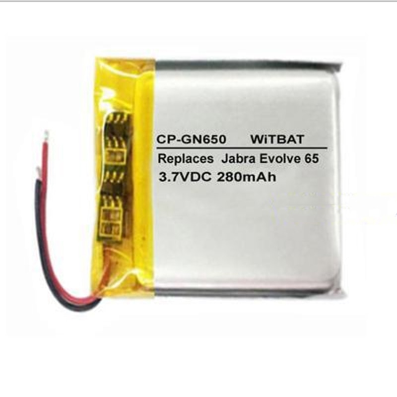 3 unids/lote TTVXO 280mAh batería para Jabra Evolve 65 batería AHB472625PLT