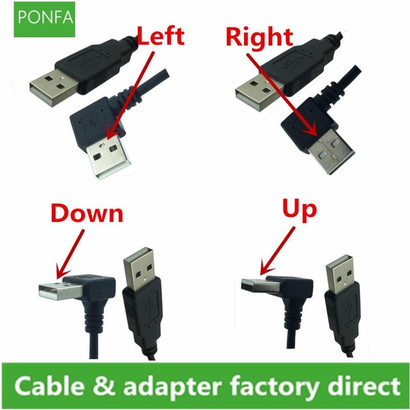 Cable tipo USB A macho, Cable de extensión de 90 grados A...