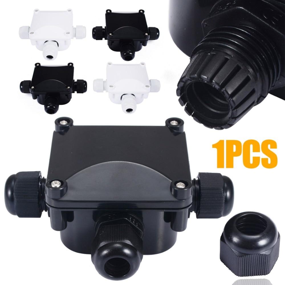Водонепроницаемый Соединительный короб, 1 шт., 3 порта, подземный кабель, защитные коннекторы для строительства IP68, для уличного газона, прож...