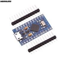 Pro Micro ATmega32U4 5V 16MHz remplacer ATmega328 pour Arduino Pro Mini avec en-tête à 2 rangées pour Mini Interface Usb Leonardo