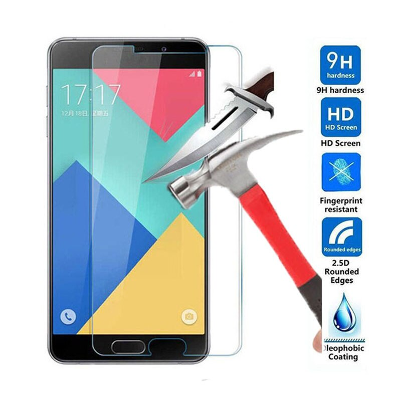Закаленное стекло 2.5D 9 H, пленка для Samsung Galaxy J1 J2 J3 J5 J7 A3 A5 A7 2016 Grand Prime G530 G531 S7 S6 S5 S4 S3, чехол