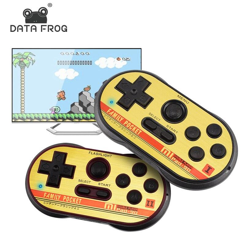 Mini consola de videojuegos de Data Frog para FC30 Pro, con 260 juegos clásicos y 8 bits, compatibilidad con salida de TV portátil para jugadores
