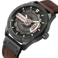 CURREN Men Military Sports Watches Men's Quartz Date Clock Man Casual Leather Wristwatches Relogio Masculino