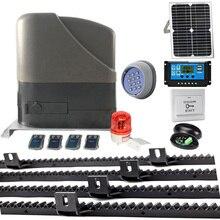 800KGS 12VDC Residetial Gear Systeem Eletric Schuifpoort Opener/Schuifdeur Motor Zonne-energie Van 4M Rekken