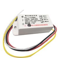 1PCS 220V AC Auto Infrared Sensor Switch PIR Microwave Radar Body Motion Sensor Module Adjustable For Time Distance Brightness
