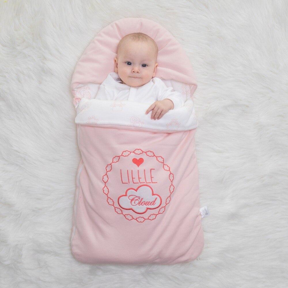 Детский спальный мешок конверт для новорожденных из чистого хлопка, кокон для новорожденных младенцев, закрытый в зимнюю коляску, может выш...