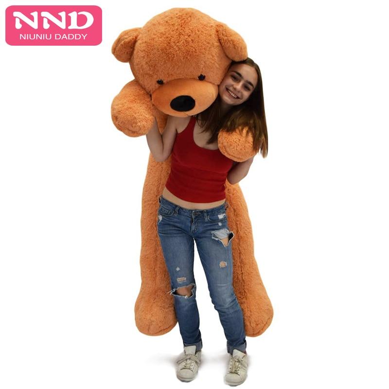 Niuniu Daddy Large Size 120cm Unstuffed Giant Teddy Bear Plush Toy Big Embrace Kids Doll Lovers/Christmas Gifts Birthday gift