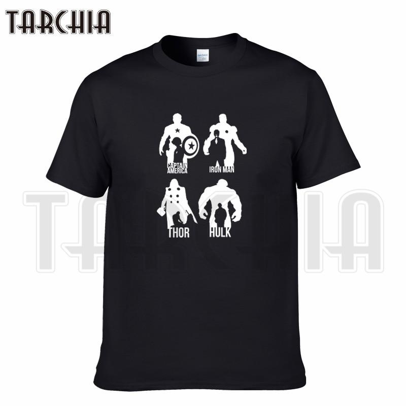 TARCHIA 2019 brand t-shirt Raytheon iron Man Hulk captain cotton tops tees men short sleeve boy casual homme tshirt t plus