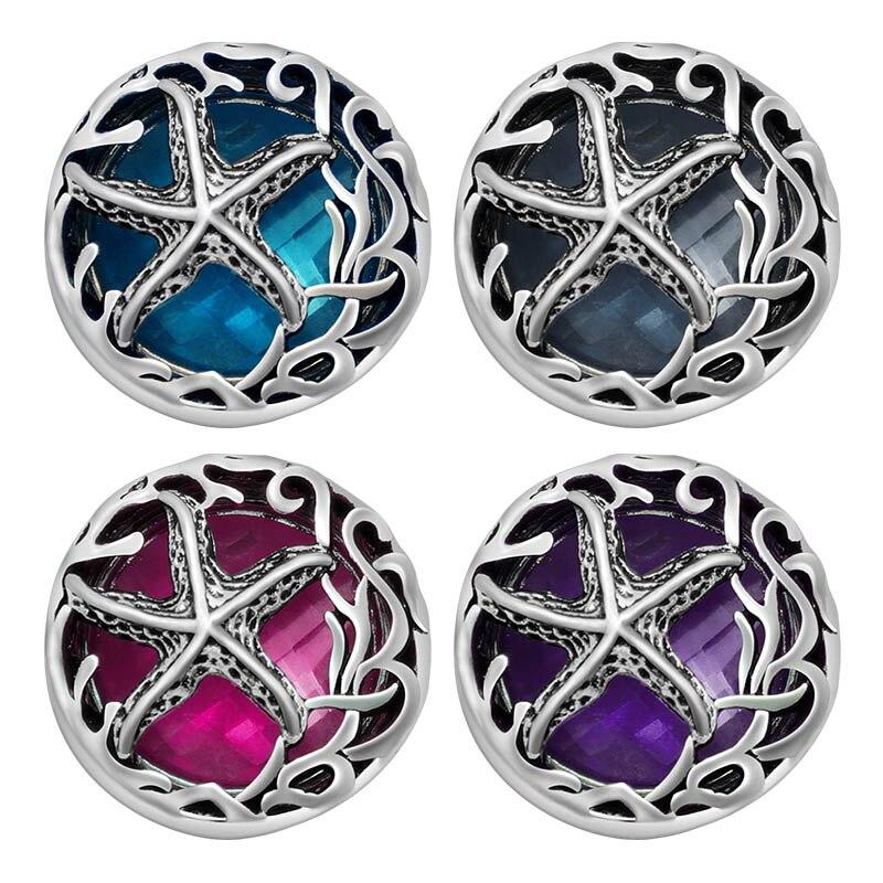 Gran oferta moda estrella de cristales de 18mm botones de cierre de ajuste DIY joyería venta al por mayor de KZ3192