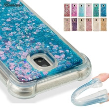 Glitter Líquido em Tpu para Samsung Galaxy J1 J3 J5 J7 2016 A3 A5 A7 2017 J330 J530 J730 J2 prime Pro A8 2018 S9 Plus Nota 8 B31