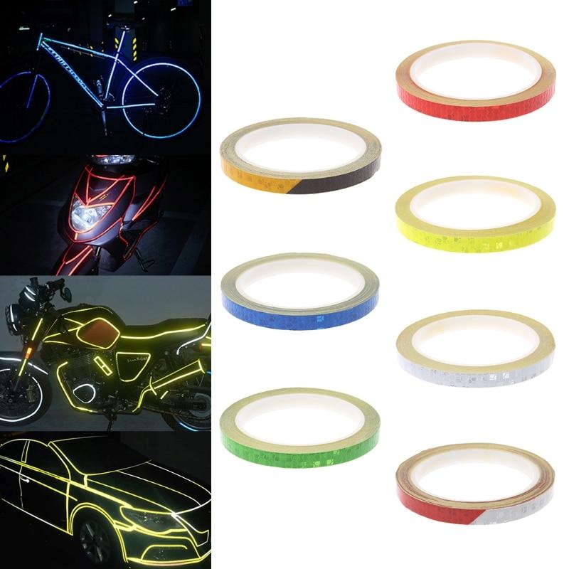Pegatina reflectante para reflectores de bicicleta, cinta de calcomanía fluorescente para ciclismo, de advertencia y seguridad