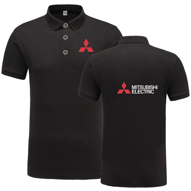 Novedad en ropa de marca, Polo con logo para hombre, Polo informal para hombre Mitsubishi, camiseta Polo de manga corta