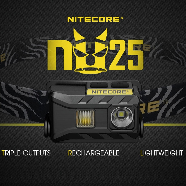 Nitecore-faro recargable con USB nu25 Cree XP-G2 S3, color blanco, CRI, Rojo