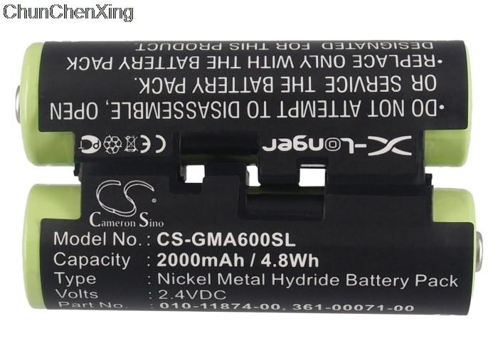 Аккумулятор Cameron Sino 2000mAh 010-11874-00 для Garmin Astro 430 handheld, Oregon 600, 600t, 650, 650t, Striker 4, 4 Fishfinder