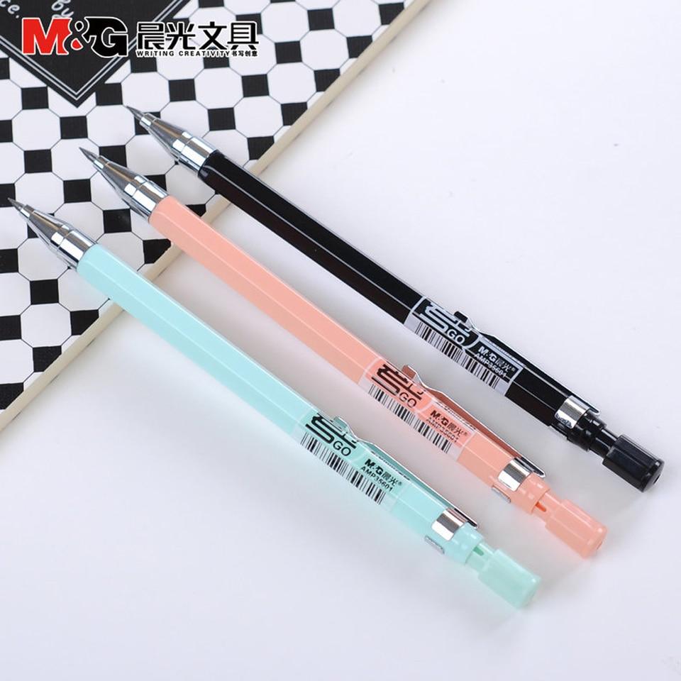 M & G lápiz mecánico 2,0mm propio sacapuntas 2B recargas lápiz automático dibujo boceto Oficina suministros papelería