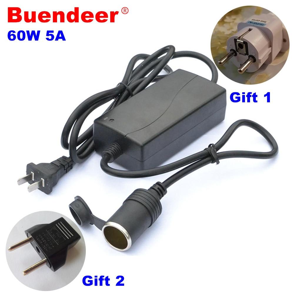 Inversor de corriente para coche de 60W, mechero de conversión para coche de 220V, adaptador de giro de 12V/5A para bomba inflable de aspiradora, de gooddeer