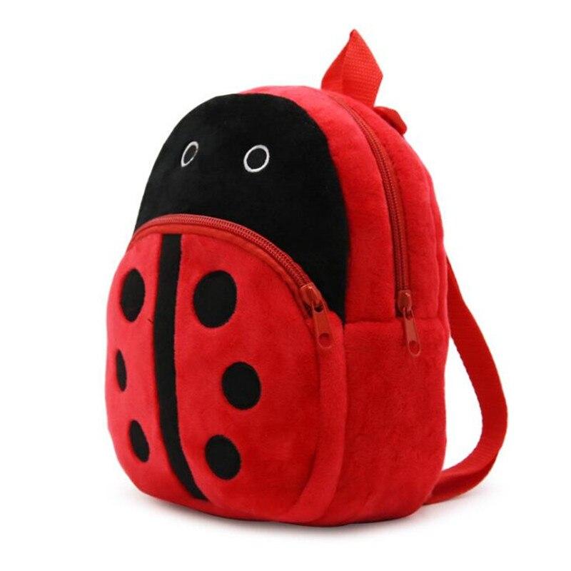 Mochila De felpa de 1-3 años para niños, Mariquita de dibujos animados, bolsas de juguete para bebés, bolsa escolar para niños, mochila de caramelo kawaii para niños y niñas, Juguetes