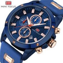 MINI FOCUS montre-bracelet homme Quartz montre hommes étanche Sport militaire montres hommes marque de luxe mâle horloge Relogio Masculino bleu