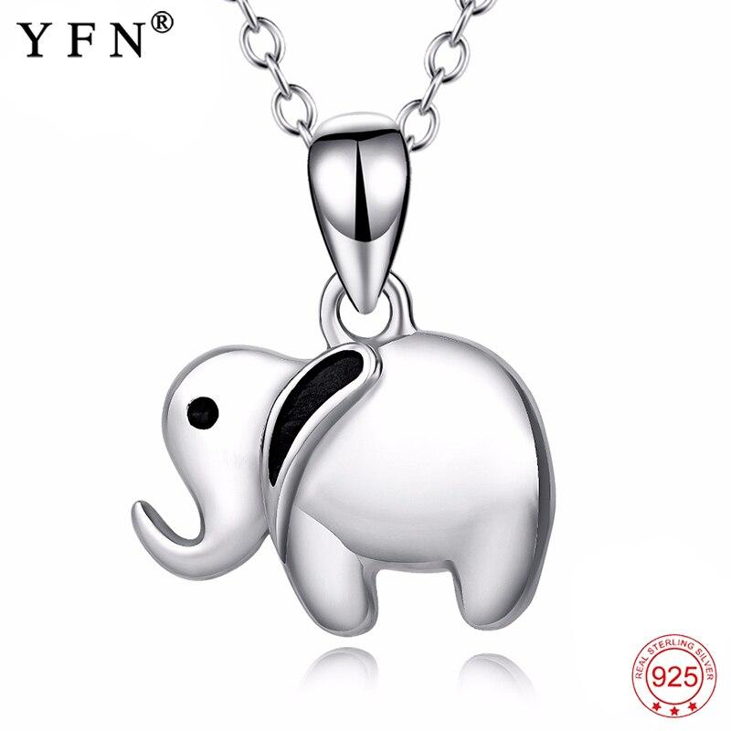 Колье с кулоном YFN, из серебра 925 пробы, в форме слона