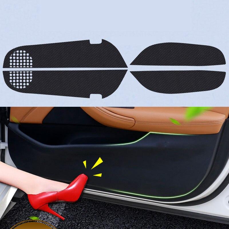 4pcs Car Door Side Edge Anti kick Protection Film Carbon Fiber Sticker For Toyota Corolla