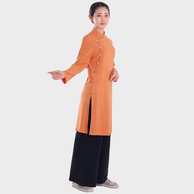 Uniforme de Ropa de Tai chi para mujeres, Túnica China zen, ropa de meditación, conjuntos darts martiaux