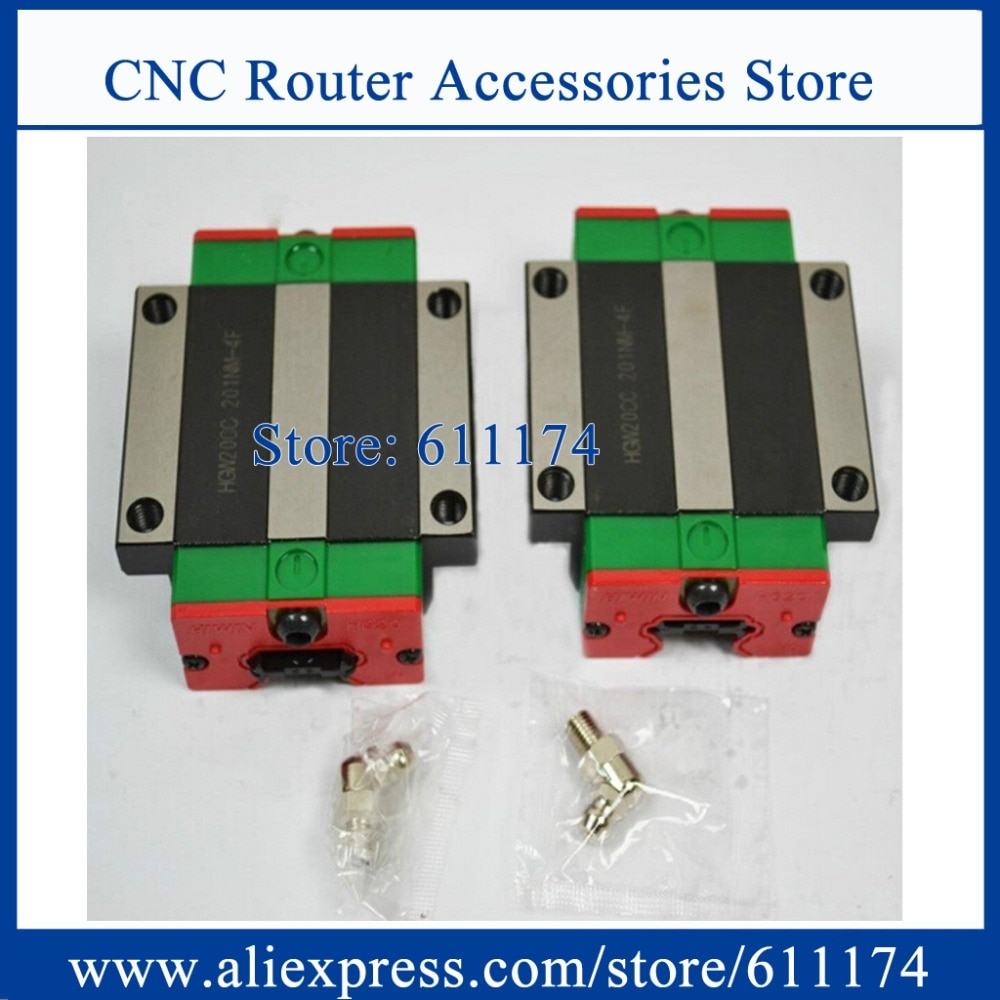 2PCS New HIWIN Slider block HGW30CC Linear guide bearing, linear rail Carriage match for HGR30 Guide rail