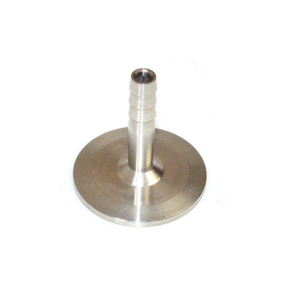 12.7 milímetros Conector de Engate Rápido Da Mangueira De Metal OD Sanitária Barb Encaixe de Tubulação Tri Grampo Tipo SS304 34mm Virola de Aço Inoxidável SSH12.7-34