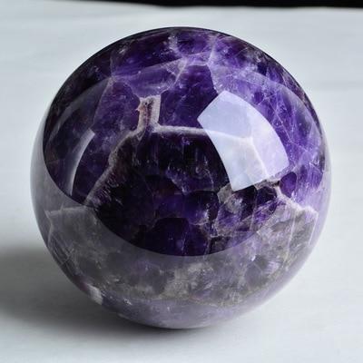 Hermosa natural sueño amatista cristal esfera piedra de gema