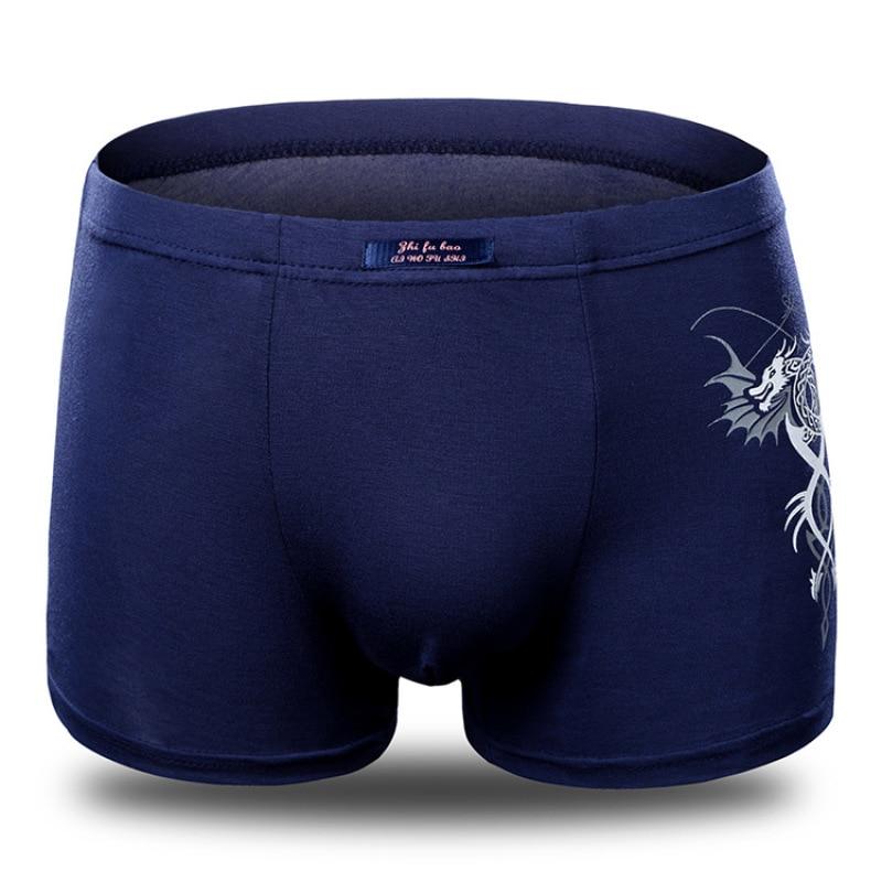 Quente nova moda sexy modal shorts boxers masculinos fino respirável underwears mans confortável calcinha lobo dragão masculino cuecas