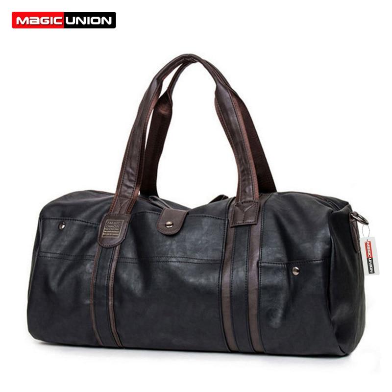 Сумка MAGIC UNION, винтажная, из вощеной кожи, вместительная, портативная, на плечо, для мужчин, модная, дорожная сумка, посылка