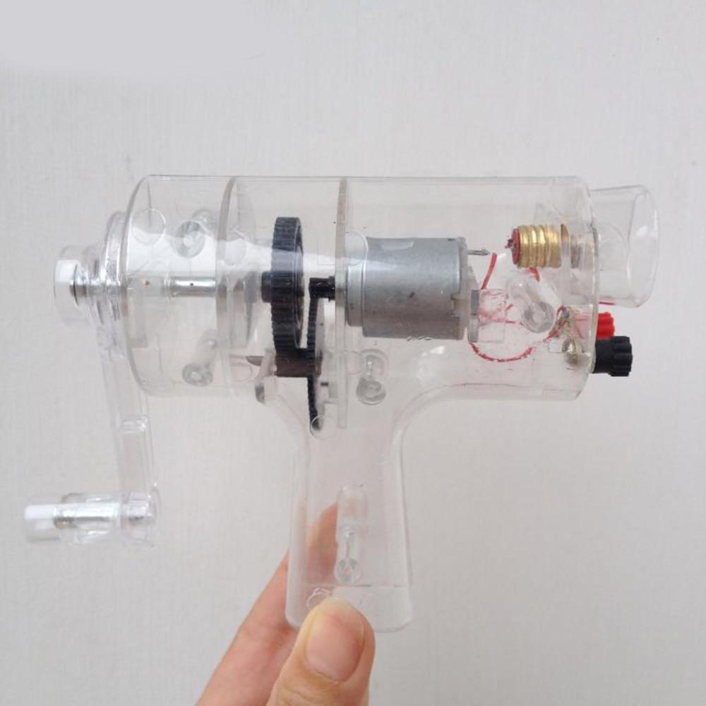 Miniature Hand Generator Energy Converter Power Generator Physics Experimental Teaching Equipment School Teaching Instrument stainless steel ruler junior high school physics and mathematics teaching instrument