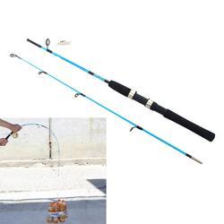 Vara de pesca de 1.2m, vara de pesca reforçada, de plástico, telescópica, para inverno, hastes de pesca de carbono, para molinete/carretilha, equipamento