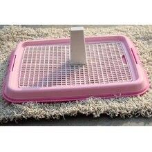Toilettes pour chiens de haute qualité   Avec plateau à grille, Plus colonne danimal domestique, toilette plat, chiot chien chat animal de compagnie, pot dintérieur, couleur bleu rose