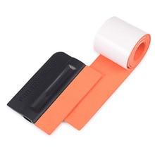 Скребок EHDIS виниловый для защиты окон автомобиля, 100 см, из замшевой ткани и углеродного волокна