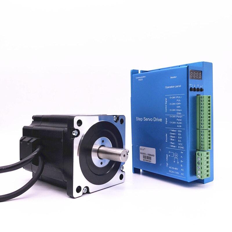 محرك متدرج التحكم بالتحكم العددي بواسطة الحاسب الآلي + HB860D Nema 86 Hybbrid حلقة مغلقة 2-phase 4.5N. m