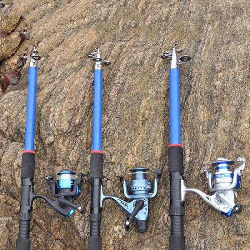 2,1/2,4/2,7/3,0/3,6 m caña de pescar telescópica de alta resistencia, caña de mar de fibra de vidrio, caña de pescar, herramientas de pesca, cañas de pescar