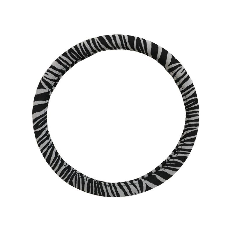 38 CM Blanco Negro Zebra Printed PVC Cubierta del Coche Volante Auto Universal de Alta Calidad de La Manera