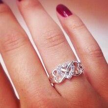 Женское кольцо с тройным сердечком, серебряное кольцо для помолвки и свадьбы, модное милое украшение для пары, O3M228