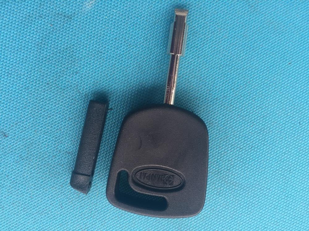 1pc de nova substituição caso chave para ford transponder chave em branco escudo sem corte lâmina