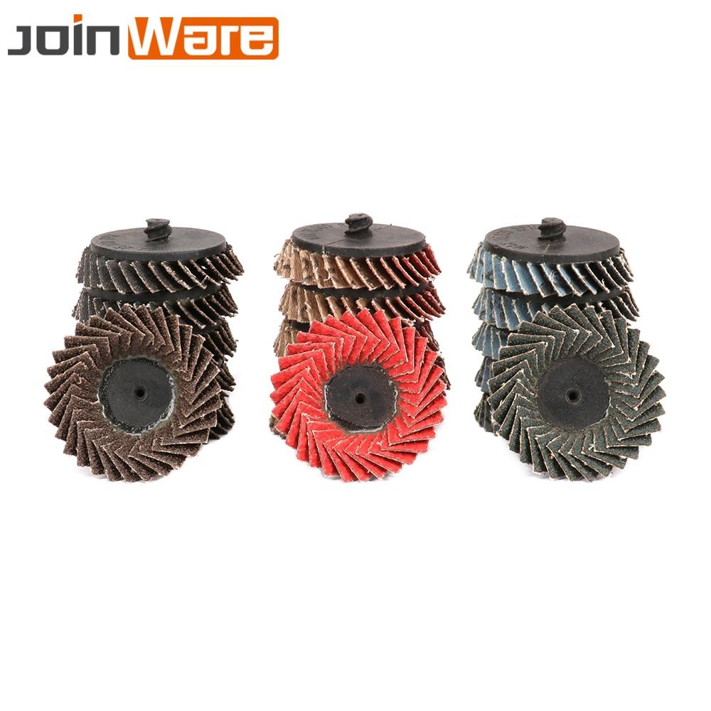 "5Pcs 2"" Flap Disc Wheel Type R Roloc Threaded Twist Lock 60# For Remove Rust New High Quality"