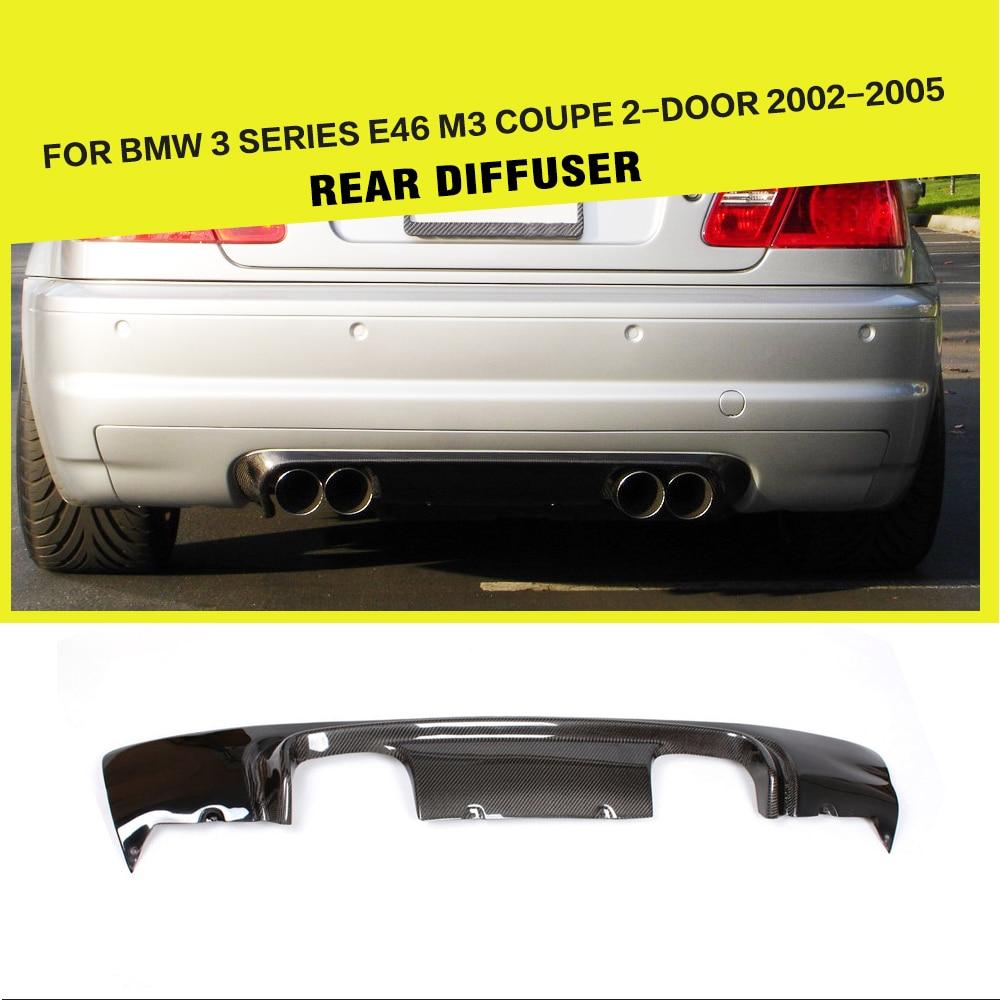 Alerón de fibra de carbono para difusor de parachoques trasero para BMW 3 Series E46 M3 Coupe 2 puertas 2001 - 2006 estilo de coche